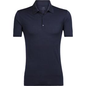 Icebreaker Tech Lite Poloshirt korte mouwen Heren, midnight navy